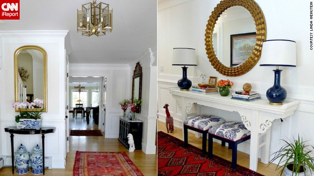<a href='http://ireport.cnn.com/docs/DOC-988203'>Linda Weinstein</a> of northern New Jersey loves the sophistication that the chinoiserie pieces bring to her foyer.