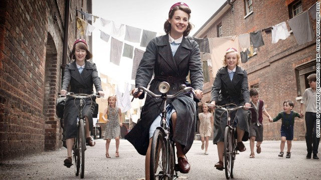 "BBC's series ""<a href='http://www.pbs.org/call-the-midwife/home/' target='_blank'>Call the Midwife</a>"" delves inside the sometimes funny and moving world of midwifery alongside families in London's East End in the 1950s. The legendary Vanessa Redgrave narrates the series about young midwives played by Jessica Raine and Miranda Hart. The show returns for season three in 2014 on PBS."