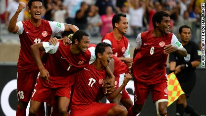 Football: Tahiti heroics against Nigeria