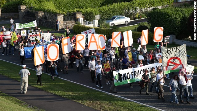 Protesters march through the streets near the Group of Eight Summit on Monday, June 17, in Enniskillen, Northern Ireland. Demonstrators long have targeted the G8 to protest the economic policies of the world's leading industrial powers -- Canada, France, Germany, Italy, Japan, Russia, the United Kingdom and the United States.