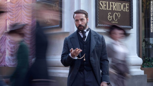 "Jeremy Piven brings the titlular retail tycoon to life in ITV's ""<a href='http://www.pbs.org/wgbh/masterpiece/programs/series/mr-selfridge/' target='_blank'>Mr. Selfridge</a>"" series, set in London in 1909. At the center of the show is the man and his department store, Selfridges. Overlapping ambition, flamboyance and affairs ensue. The second season just wrapped on PBS."