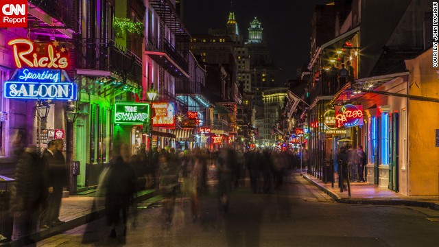 "The neon signs of Bourbon Street light up the night. ""If you ever get a chance to head to the French Quarter, do it,"" said John McGraw. ""It is one of those places that, for us, lived up to the hype."" See more photos from around New Orleans on CNN iReport."