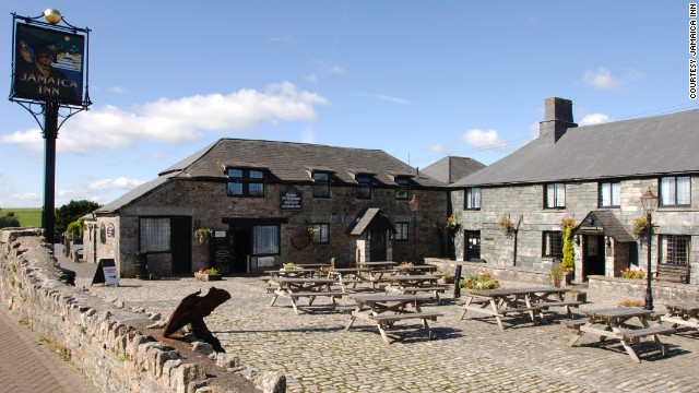 "The Jamaica Inn's history as a hideaway for 18th-century smugglers inspired DuMaurier's novel ""Jamaica Inn."""