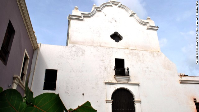 Iglesia de San Jose (San Jose Church) in Old San Juan, Puerto Rico, was built in 1532 and is one of the last remaining Spanish Gothic structures in the Western Hemisphere. It has been closed for 13 years and is deteriorating.