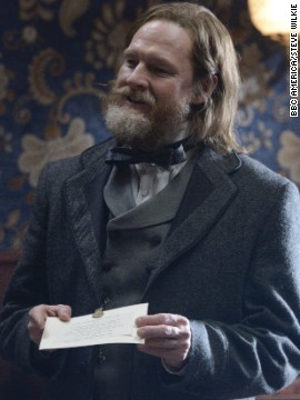 A new Boss Tweed-type figure for season two is Brendan Donovan (Donal Logue). His double-breasted vest adds to his air of authority.