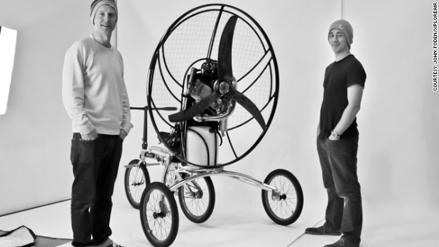 Inventors John Foden and Yannick Read said: 'We spent our childhoods riding bikes and dreaming of flight'