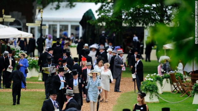 And where did she horrify high society? None other than Ascot's exclusive Royal Enclosure. The first class ticket area includes the best seats in the stand, luxury marquees (pictured) and private track side gazebos.