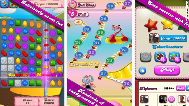 "Candy Crush"" is an extremely popular mobile game on Apple and Android"