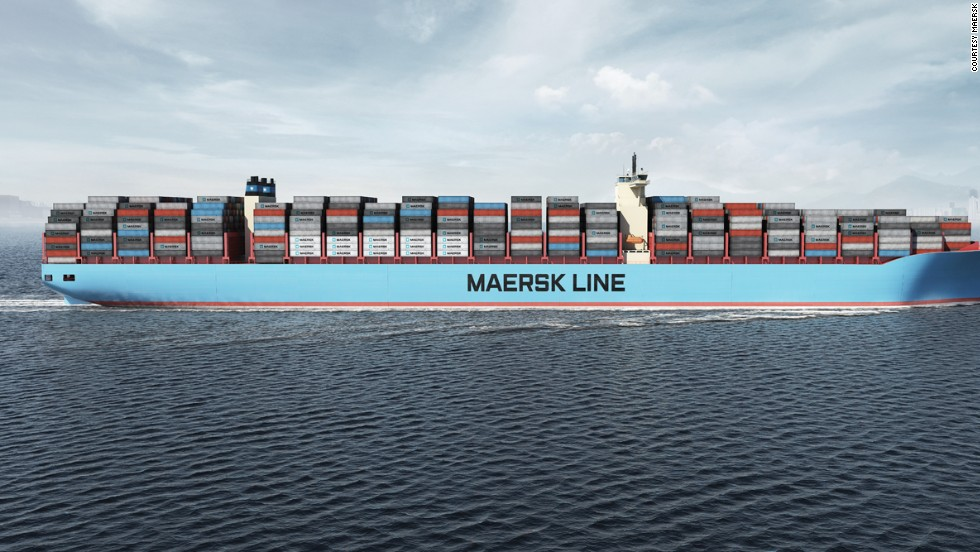 The Triple E Class vessel will become the world's largest operational ship when Danish shipping giant Maersk takes delivery of the vessel on July 2. The ship's first official voyage will commence on July 15, according to Maersk.