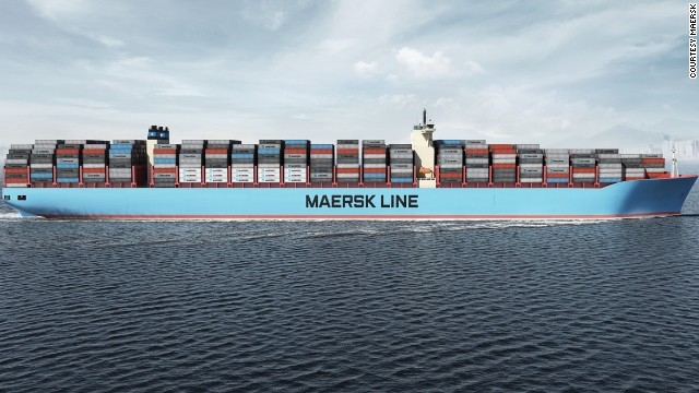 Maersk 39 triple e 39 introducing the world 39 s biggest ship for Porte conteneur