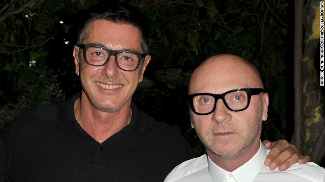 Stefano Gabbana, left, and Domenico Dolce are co-founders of one of the fashion world