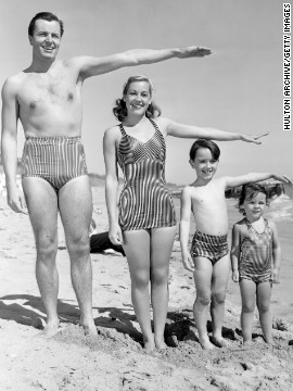 By 1942, bathing suits developed a recognizably modern style.