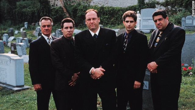 "We are fascinated with mobsters and those affected by them, both in real life and on screen. ""There's the reality of organized crime that nobody is in love with, and there's the mythologized version that everyone is in love with,"" said Ron Kuby, a lawyer who defended the late John Gotti. The cast of HBO's ""The Sopranos,"" from left, Tony Sirico, Steve Van Zandt, James Gandolfini, Michael Imperioli and Vincent Pastore. Gandolfini died this week from a heart attack at age 51."