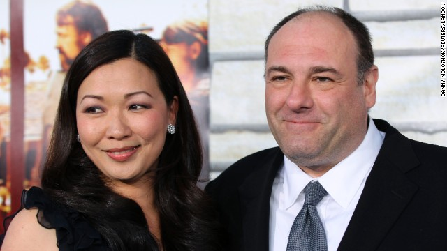 Gandolfini with his wife, Deborah Lin, at the premiere of HBO Films'