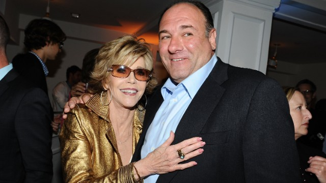 Gandolfini and Jane Fonda attend an after-party for the HBO series