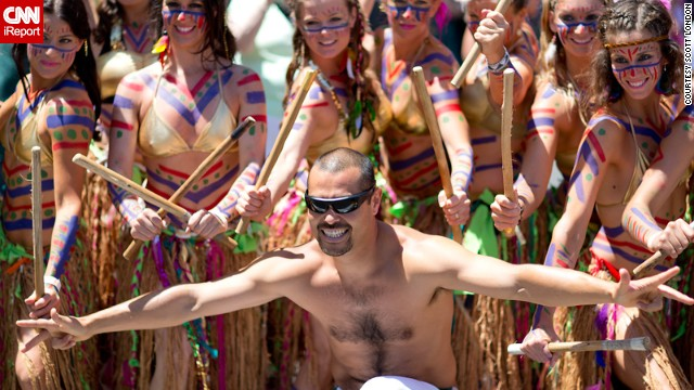 "There weren't many more clothes on display at the Santa Barbara 3-day summer solstice parade last year. ""It's one of the largest, most festive, and longest-running events of its kind in the U.S."" said <a href='http://ireport.cnn.com/people/scttlndn' target='_blank'>Scott London</a>, who documented the event."