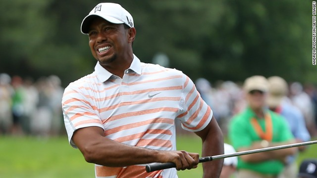 World No. 1 Tiger Woods first picked up a left elbow injury at the Players Championship last month.