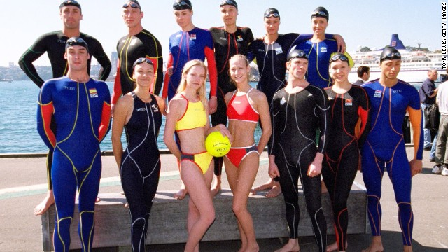 Speedo, the company that is synonymous with tiny men's swimsuit that's favored by professional swimmers and European men, made a splash at the 2000 Sydney Olympics with a high-tech, full-body swimsuit (the Fatskin) that cuts a swimmer's drag in the water. A newer version of the suit was famously used by Michael Phelps at the Beijing Olympics in 2008.