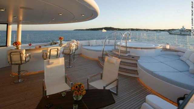The spectacular boat is not for the faint hearted, costing $686,00 per week in July and August. Then there are expenses, estimated at around $137,000.