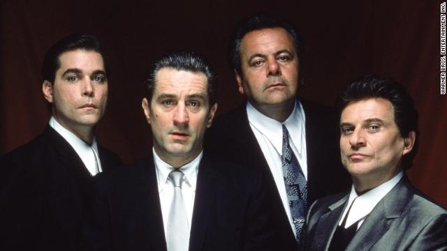 "From left, Ray Liotta, Robert De Niro, Paul Sorvino and Joe Pesci in the mob drama ""Goodfellas"" (1990)."