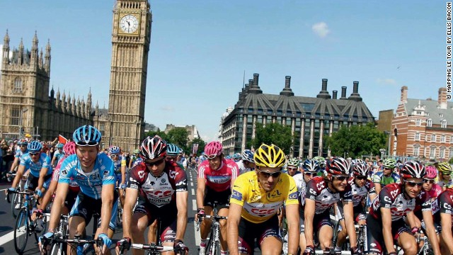 The Tour de France visited British capital London for the first time in 2007, scene of a prologue before the riders departed on the first stage to Canterbury.