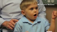 Deaf toddler hears first words