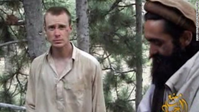Army Sgt. Bowe Bergdahl with one of his Taliban captors in Afghanistan