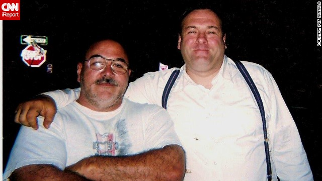 "When the news broke on Wednesday that ""The Sopranos"" star James Gandolfini died at 51, tributes poured in around the world, including CNN iReport. ""So long, paisan"" was how Orlando, Florida, resident <a href='http://ireport.cnn.com/docs/DOC-991687'>Pat Tantalo</a> chose to say goodbye to the friend he met on the set of the 2006 film ""Lonely Hearts."" ""When Jimmy arrived, he was bigger than life. He shook everyone's hands and made sure he learned everyone's name. We were just finishing a production meeting and we introduced ourselves. We instantly connected. He planted his huge mitts on my shoulders and called me a little bull."""