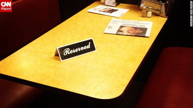 "Farley pointed out that, as of Wednesday night, ""Ice cream eaters can sit anywhere but the booth that Tony Soprano sat in during the very last episode. A reserved sign sits on the table alongside a newspaper dedicated to Gandolfini."""