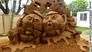 Jino Van Bruisessen\'s sand sculpture -- titled \