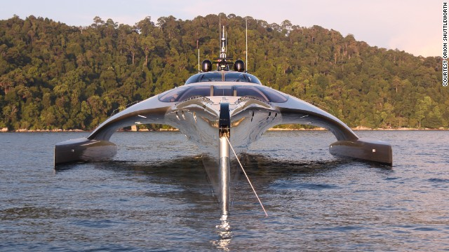 The superyacht controlled by an iPad