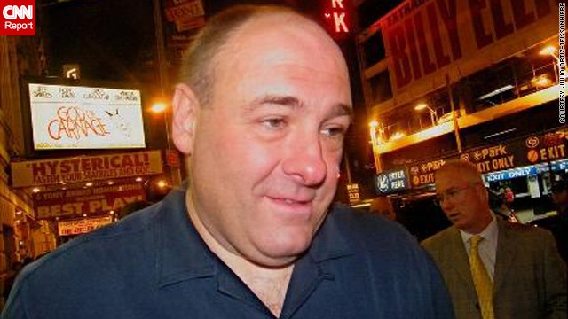 "Julio Ortiz-Teissonniere met Gandolfini outside of his Broadway show, ""God of Carnage,"" in 2009.""I thought how cool it was when he spoke to a former classmate of his that was standing next to me waiting to get his autograph. He remembered her and he even asked about another classmate."""