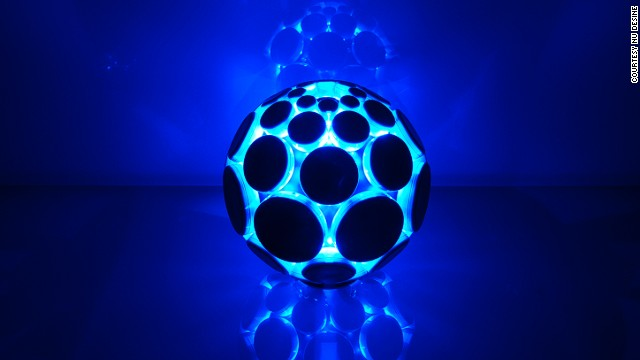 The <a href='http://www.alphasphere.com/' target='_blank'>AlphaSphere</a> was envisioned as a new way for musicians to interact with music software -- by playing with a ball. Each pad creates a different noise: what noise is up to you.