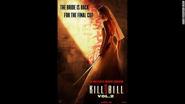 "The 2004 sequel, ""Kill Bill Volume 2"" had the tag line ""The Bride is back for the final cut."" Enough said."