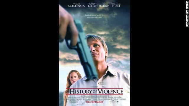 "Viggo Mortensen's character loses his nice calm life after he defends his diner and its customers from would-be robbers in 2005's ""A History of Violence."""