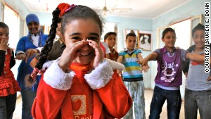 Students gather at the only youth center in one of Cairo\'s poorest neighborhoods.