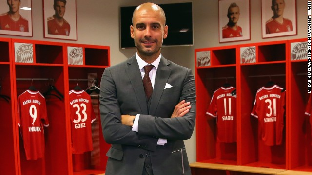 Pep Guardiola, who won 14 trophies with Barcelona between 2008-12, was the man charged with taking Bayern to the next step after Jupp Heynckes' treble-winning exploits last season.