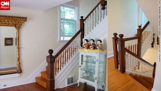 <a href='http://ireport.cnn.com/docs/DOC-993788'>Victoria Barnes'</a> Philadelphia home was built in 1890, and it needed a facelift. She painted three stories of spindles on her staircase.