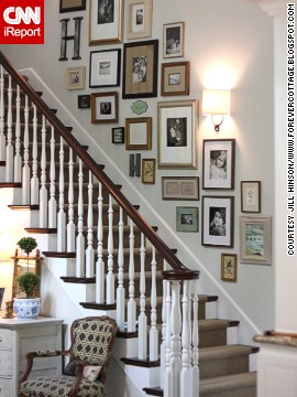 <a href='http://ireport.cnn.com/docs/DOC-992265'>Jill Hinson's</a> Portland, Oregon, house wasn't a home until she installed this gallery on the stairwell wall.