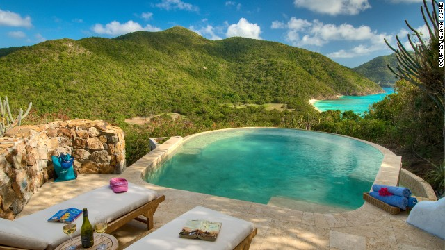 "This private island has seven baby-powder beaches, 850 acres and one tiny resort. As the owners like to say, ""It's the Caribbean before it went public."""