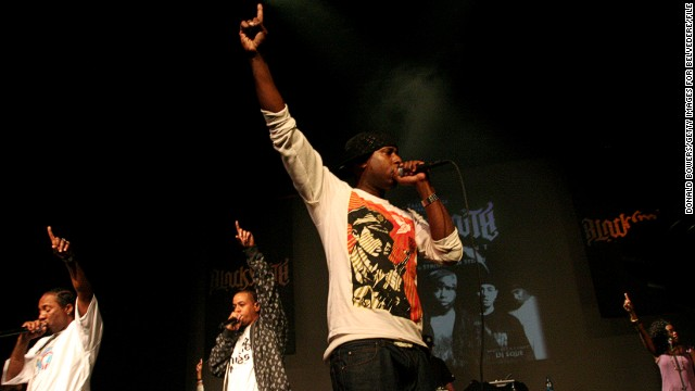 "Kweli performs with Strong Arm Steady at New York's Apollo Theater in 2007. The self-described ""ebony man/Apollo legend"" released his early works with Rawkus Records and has since launched two labels, the now-defunct Blacksmith Music and Javotti Media, which released his latest album."