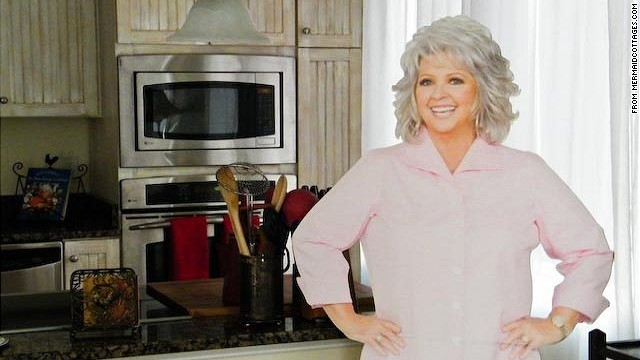 "Fans can enjoy a Paula Deen-themed vacation at the chef's beach house, the ""<a href='http://bookings.mermaidcottages.com/Unit/Details/39370' target='_blank'>Y'all Come Inn</a>"" on Tybee Island, near Savannah, Georgia. Perks include ""VIP Guaranteed reservations"" at Uncle Bubba's Oyster House and The Lady & Sons restaurant and a personalized Paula Deen cookbook."