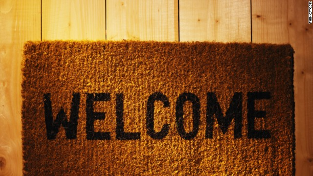 Welcome to CNN's Open House, a project that looks at how people decorate every part of their homes. During our first week of the project, we started right at the front door, on the front porch. Keep clicking to see some welcoming decor!