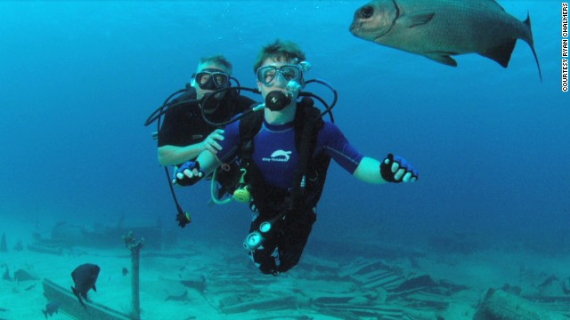 Ryan Chalmers was born with a birth defect called spina bifida, which leaves him with limited use of his legs. He recently pushed his wheelchair across the United States to raise money for a scuba program that helps people with disabilites. <a href='http://www.cnn.com/2013/06/26/health/human-factor-chalmers/index.html'>Read more.</a>