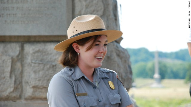 "Seasonal ranger Caitlin Kostic shares her love of Civil War history with visitors at Gettysburg National Military Park. ""I love getting up every day and coming to a place that is rich in history, "" says Kostic, 24."