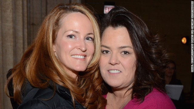 Michelle Rounds, left, and Rosie O'Donnell quietly wed in 2012, and in January 2013, they announced the arrival of a daughter.