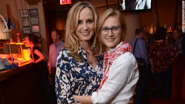 Country star Chely Wright, left, and Lauren Blitzer married in August 2011 and are the parents of identical twin sons, George Samuel and Everett Joseph.