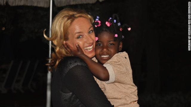 Marielle van den Biggelaar with her 4-year-old daughter, Eva, who was adopted from the U.S.