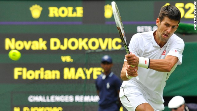 2011 champion Novak Djokovic is bidding to win Wimbledon for a second time.