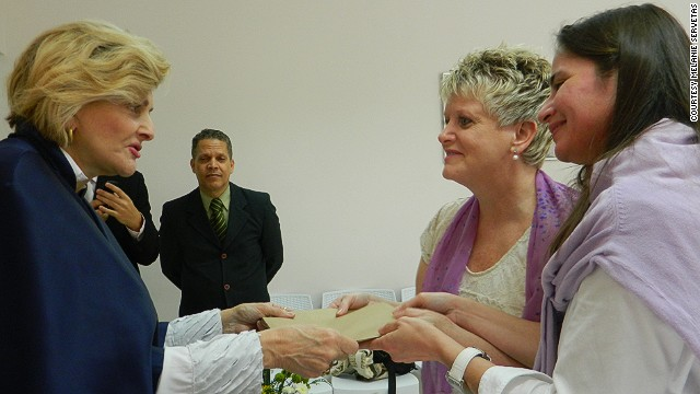 Claudia Amaral, right, and Melani Servetas were married in Brazil at the same time the Supreme Court was ruling on DOMA.